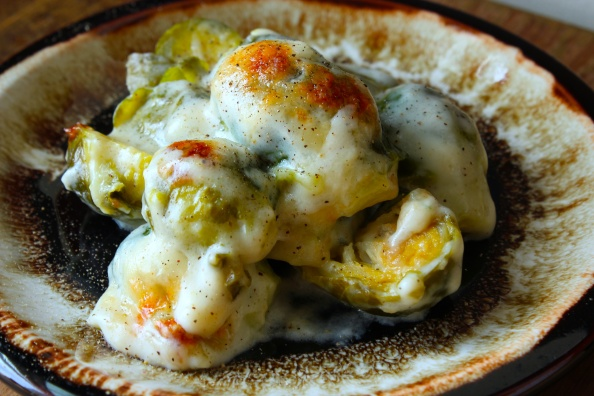 Oooey-gooey Brussels Sprout Gratin