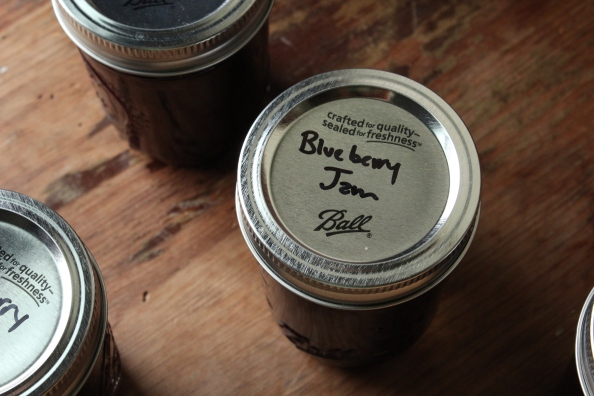 Blueberry jam lid