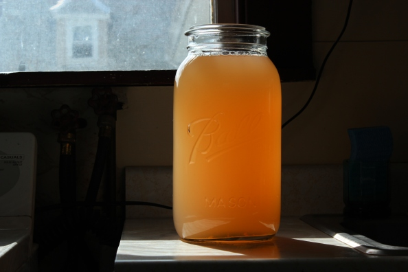 Fermented apple peel vinegar