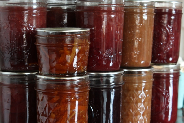 Homemade jams and marmalade